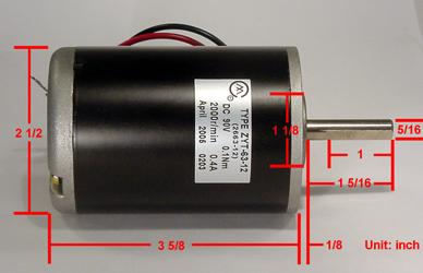 Dc Motor Heavy Duty 90v Dc Motor 36w Speed Controller 115 230v Worldwide Ac Power