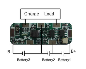 2776_3 pcb for 11 1v li ion battery pack with fuel gauge socket (3s @ 4a 12V Lipo Battery at readyjetset.co