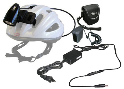 Nightpro-Elite Upgraded 12W Flood Halogen Helmet light w. 7.4V 6000 mAh Li-Ion Battery