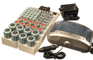 Computer Controlled Superfast Charger + 61 pcs Various NiMH Batteries + Rack 66 Battery Organizer
