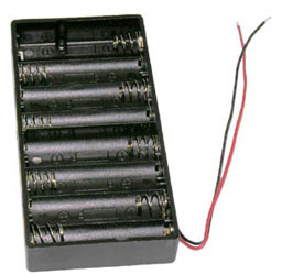 1pcs 4xAA Battery Holder With Clip End to End Side by Side