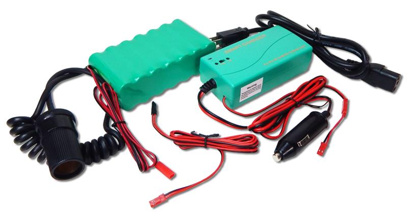 Custom NiMH Power Pack: 16.8V 4.5Ah (75.6Wh, 2Rx7, 4/3AF)