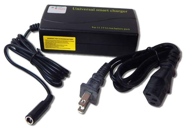 Smart Charger (1 8A) for 11 1V Li-ion/Polymer Rechargeable Battery