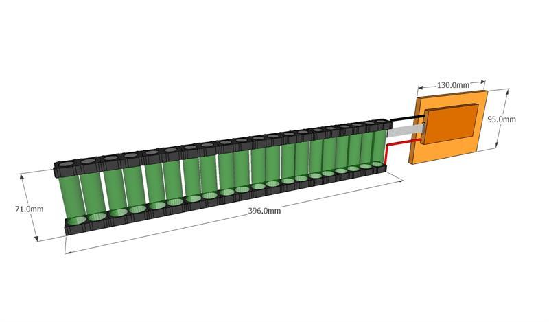 Custom Li-Ion 18650 Battery: 36V 5 0Ah (180Wh, 40A rate, 20S/S, LG