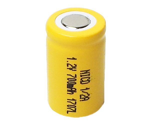 NiCd Rechargeable Cell 12V 700mAh 2 3 A Battery With Flat Top