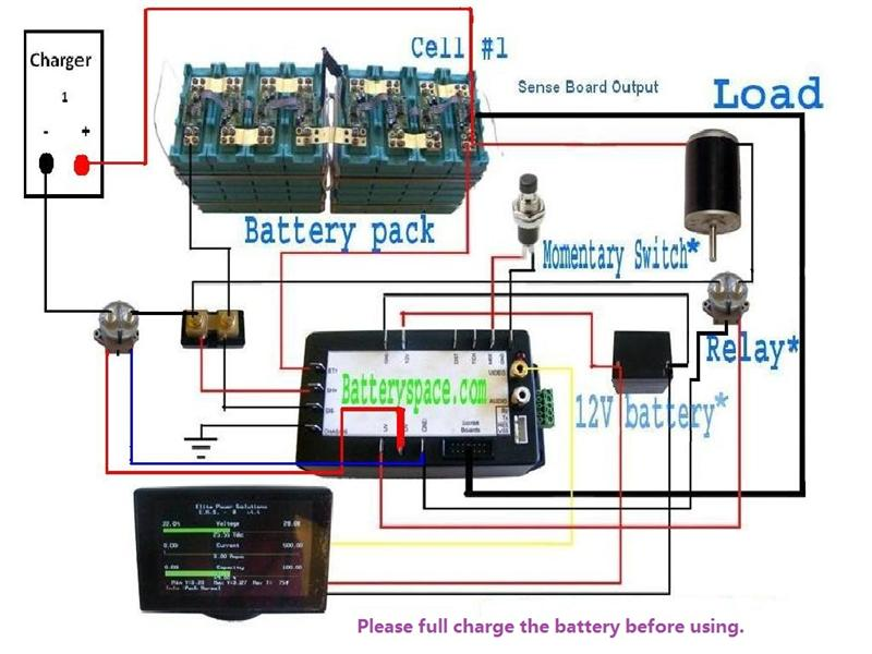 Lifepo4 Prismatic Battery And Charger Package 72v Choose From. With Can Bus Without. Wiring. Gem Car 7 2v Battery Wiring Diagram At Scoala.co